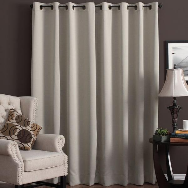 Ultimate Blackout Grommet Top Patio Curtain Panel - 112 x 84
