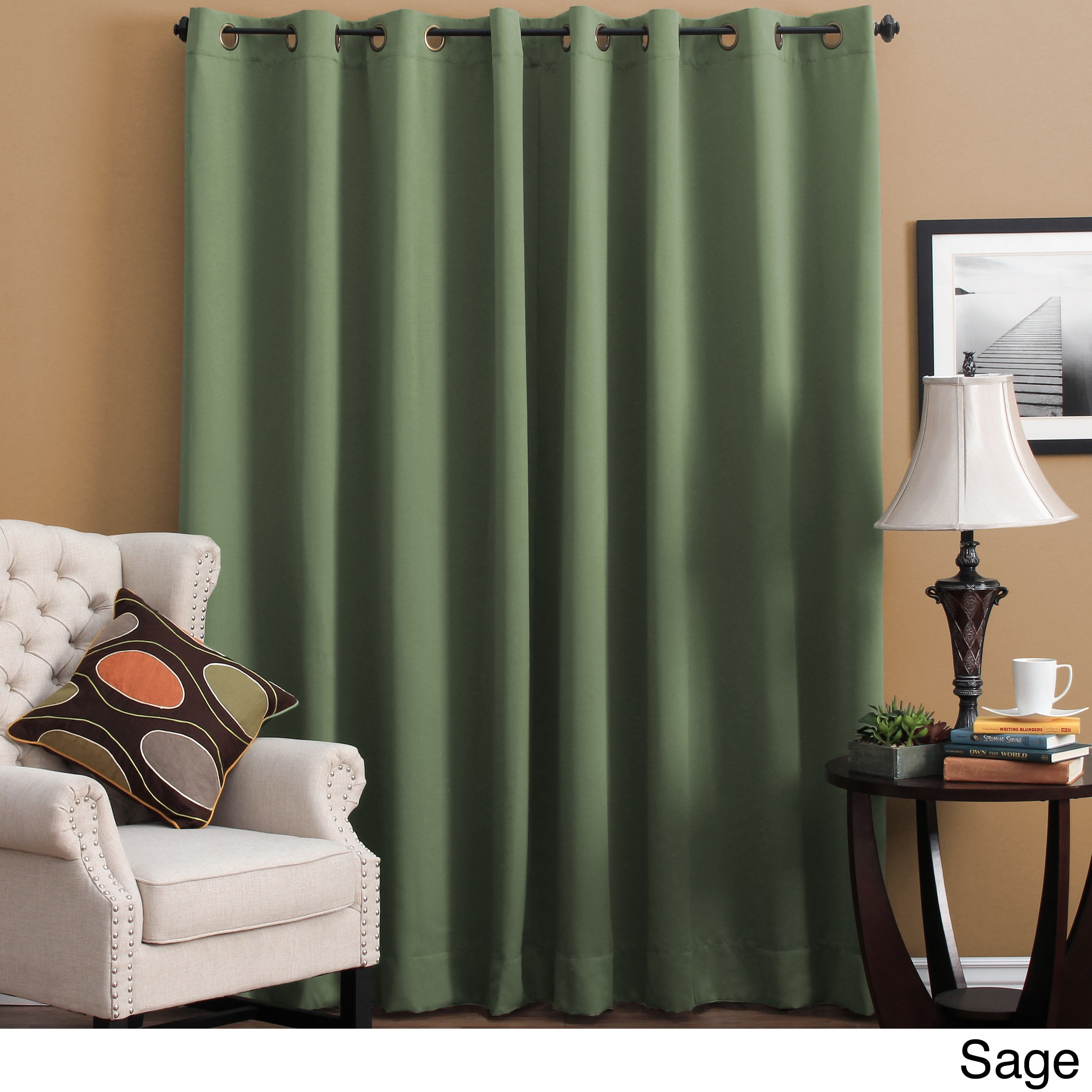 Ricardo Trading Ultimate Black out Grommet Single Patio Panel Sage