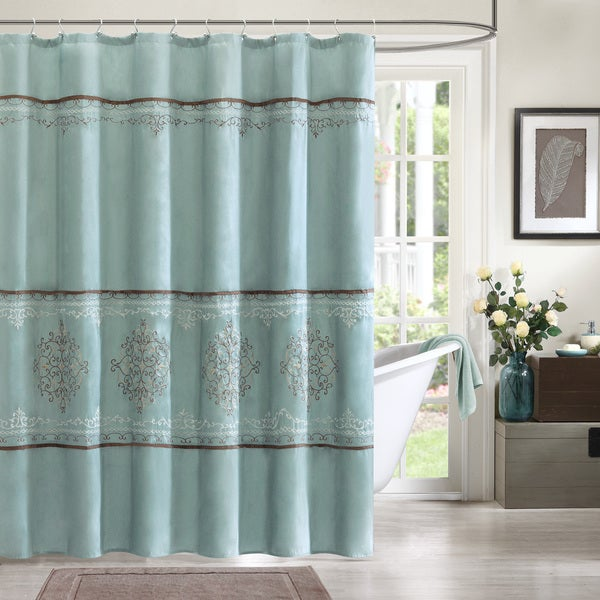 Shop Madison Park Brussel Seaform Shower Curtain - Free Shipping On ...