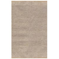 Hand-woven Natural Gold Jute Dhurry Rug (5' x 8')
