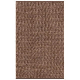 Hand-woven Brown Jute Dhurry Area Rug (6' x 9')