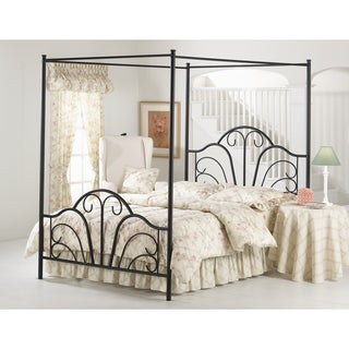 Dover Textured Black Metal Canopy Bed