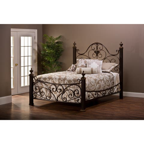 Mikelson Aged Antique Gold Bed Set