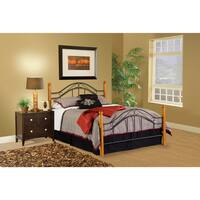 Winsloh Black/ Medium Oak Bed Set