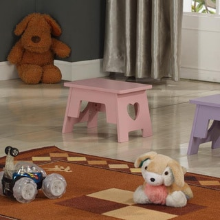Shop Kids Pink Step Stool Free Shipping On Orders Over