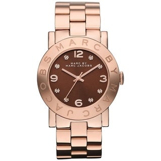 Marc By Marc Jacobs Women's MBM3167 Rose Goldtone Analog Quartz Watch with Brown Dial