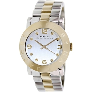 Marc By Marc Jacobs Women's MBM3139 Two-Tone Stainless Steel Quartz Watch with Silvertone Dial