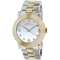 Marc By Marc Jacobs Women's MBM3139 Two-Tone Stainless Steel Quartz Watch with Silvertone Dial - Silver