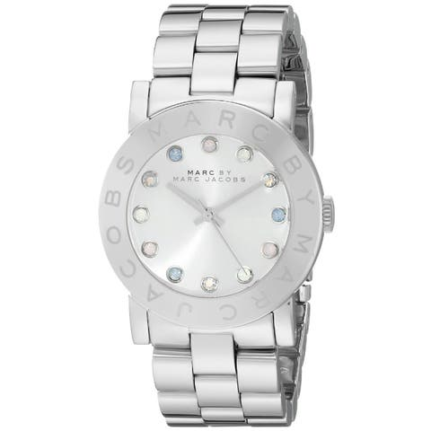 Marc By Marc Jacobs Women's MBM3214 Silvertone Stainless Steel Quartz Watch with Silvertone Dial