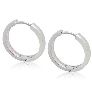Gioelli Sterling Silver Hinged Hoop Earrings