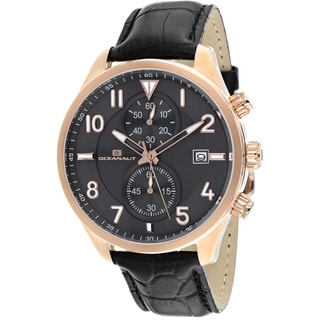 Oceanaut Men's Rally Leather Chronograph Watch