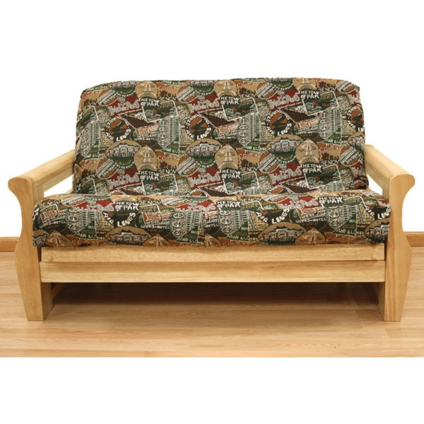 Travel Pattern Full Size Futon Cover