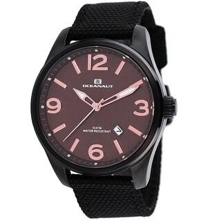 Oceanaut Men's Black Canvas Military Watch