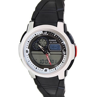 Casio Men's AQF102W-7BV Black Resin Quartz Watch with Digital Dial