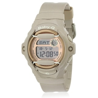 Casio Women's Baby-G BG169G-4 Pink Resin Quartz Watch with Digital Dial
