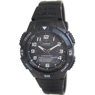 Casio Men's Core AQS800W-1BV Black Resin Quartz Watch with Black Dial