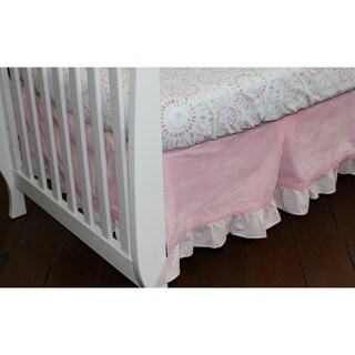 Nurture Imagination Pink Velour Dust Ruffle