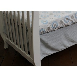 Nurture Imagination Baby Grey Dust Ruffle in Chevron