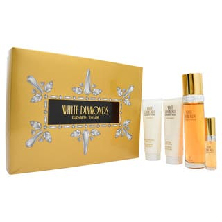 Elizabeth Taylor White Diamonds Women's 4-piece Fragrance Set|https://ak1.ostkcdn.com/images/products/9238339/P16404727.jpg?impolicy=medium