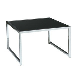 Ave Six Yield Black and Chrome Accent Corner Table