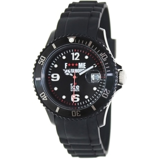 Ice-Watch Women's Fmif FM.SI.BK.U.S.11 Black Rubber Analog Quartz Watch with Black Dial