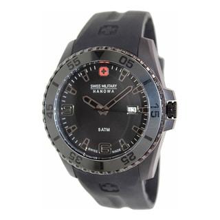 Swiss Military Hanowa Men's Ranger 06-4200-27-007-30 Black Rubber Swiss Quartz Watch with Black Dial