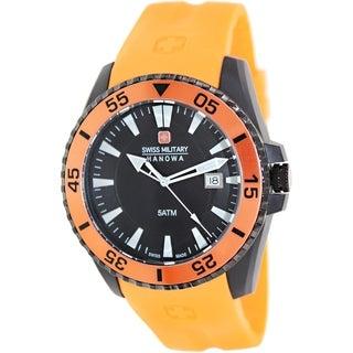 Swiss Military Hanowa Men's Ranger 06-4211-27-007-79 Orange Silicone Swiss Quartz Watch with Black Dial