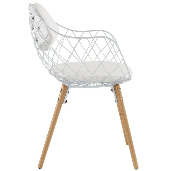 Basket Metal White Dining Mid Century Style Chair Free