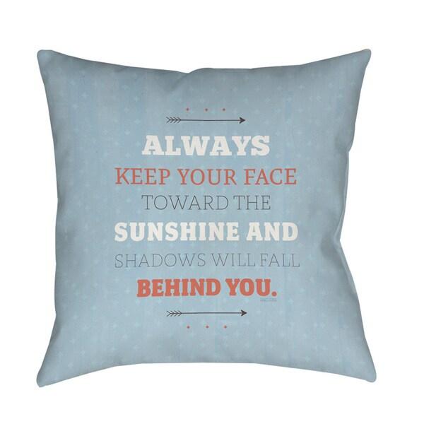 Sunshine Indoor/ Outdoor Decorative Throw Pillow