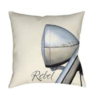 Rebel Indoor/ Outdoor Decorative Throw Pillow