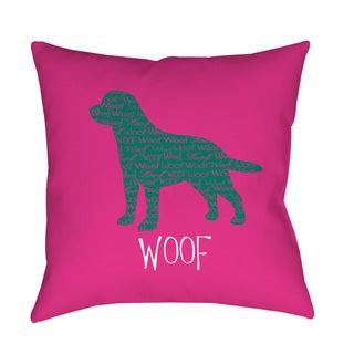 Thumbprintz Woof Indoor/ Outdoor Decorative Throw Pillow