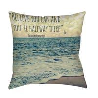 Flite Indoor/ Outdoor Decorative Throw Pillow