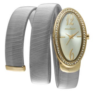 Peugeot Women's 7088TT Two-tone Spiral Snake Watch https://ak1.ostkcdn.com/images/products/9238537/P16404931.jpg?impolicy=medium