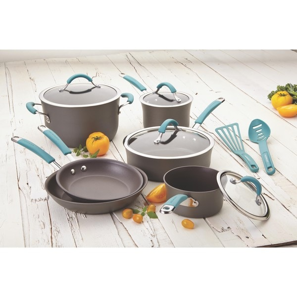 rachael ray hard anodized nonstick 14 piece cookware