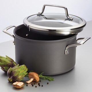 Anolon Authority Hard-anodized Nonstick 4-quart Grey Covered Saucepot