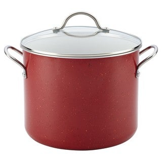 Farberware New Traditions Speckled Aluminum Nonstick Covered Stockpot