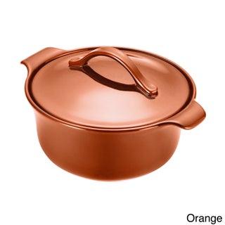 Anolon Vesta Stoneware 3-Quart Round Casserole Pot (Option: Orange)