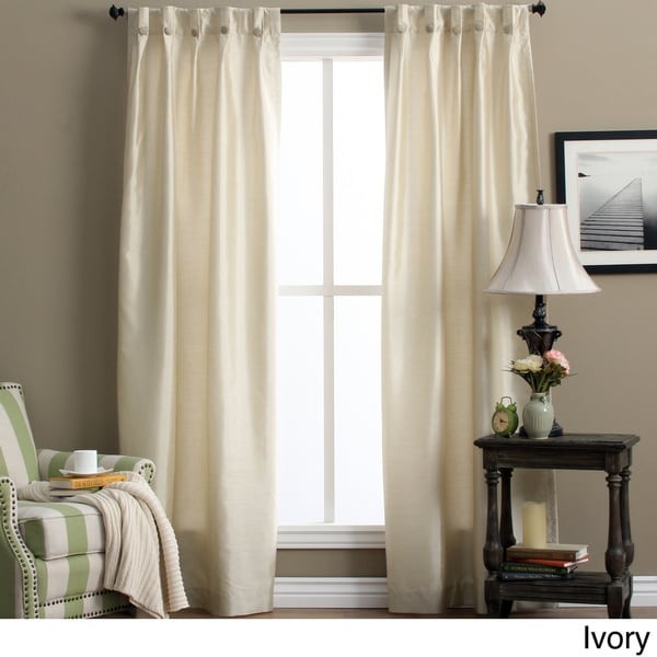 Shop Artisan Box-pleated Back Tab Curtain Panel Pair