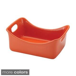 Rachael Ray Stoneware 3-quart Rectangular Baker (Option: Orange)