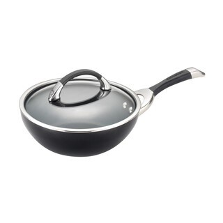 Circulon Symmetry Hard-anodized Nonstick 9 1/2-inch Black Covered Stir Fry