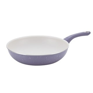 Farberware New Traditions Speckled Aluminum Nonstick 12-inch Lavender Deep Skillet