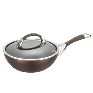 Circulon Symmetry Chocolate Hard-anodized Nonstick 9 1/2-inch Covered Stir Fry