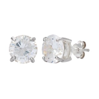 Kele & Co. Sterling Silver Cubic Zirconia Stud Earrings