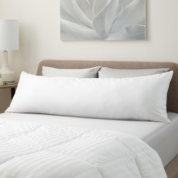 Hanes Medium Support Hypoallergenic Down Alternative Body Pillow