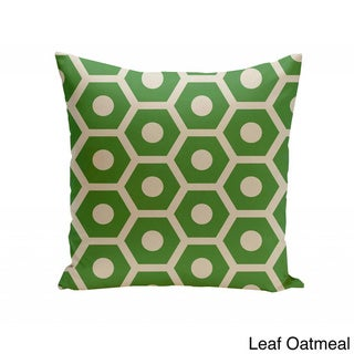 16 x 16-inch Honeycomb Print Geometric Decorative Throw Pillow