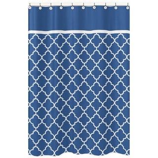 Sweet Jojo Designs Blue/ White Trellis Shower Curtain