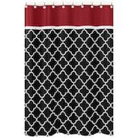 Sweet Jojo Designs Red/ Black Trellis Shower Curtain