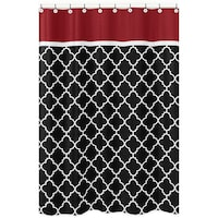 red and tan shower curtain. Sweet Jojo Designs Red  Black Trellis Shower Curtain EZ On Circles Fabric With Built in Hooks Grey
