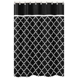 Sweet Jojo Designs Red/ Black Trellis Shower Curtain - Free ...