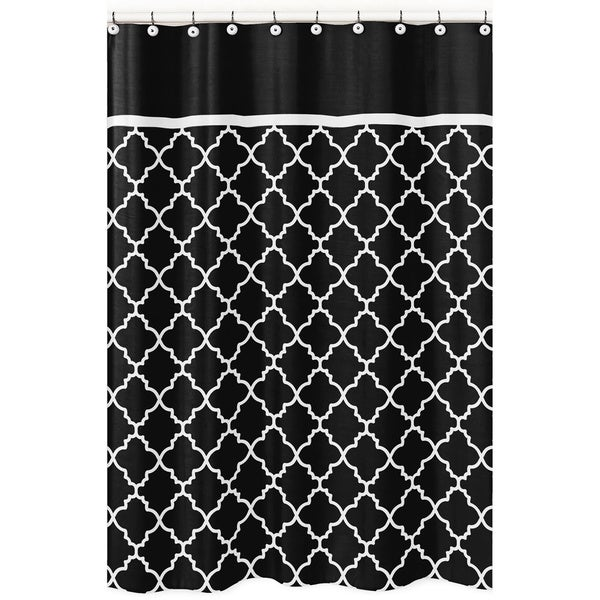 Shop Sweet Jojo Designs Black White Trellis Shower